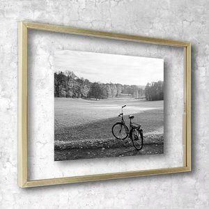 "11"" x 15"" Float Thin Metal Gallery Brass Frame"
